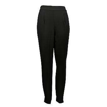 G by Giuliana Women's Pants Woven Jogger Ankle Length Black 692-570