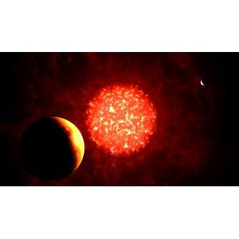 Näkymä Pluto jos aurinko korvattiin VY Canis Majoris Juliste Tulosta