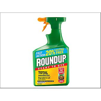Roundup Total Weedkiller Gun Ready To Use 1L + 20% Free 119580