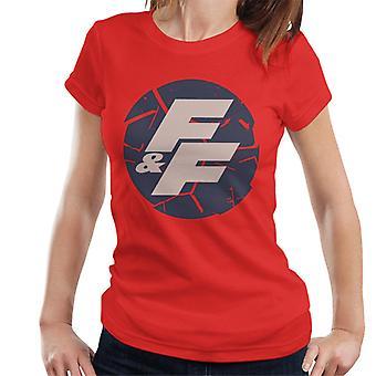 Nopea ja raivoisa särkynyt logo naisten't-paita