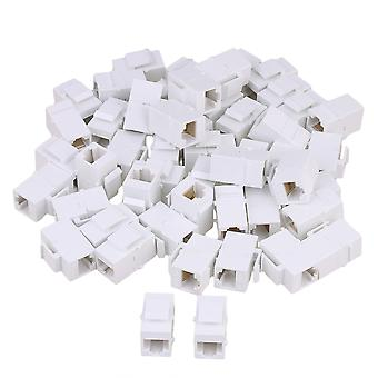 Femme Cat5 RJ45 Keystone Wall Jack Plug Coupler 8p8c Adaptateur set de 50