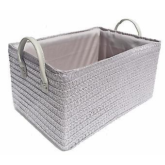 Bright Colours Fabric Storage Basket + Handle