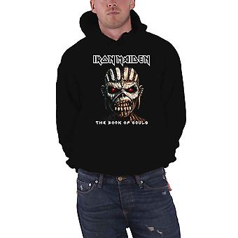 Iron Maiden Hoodie Book of Souls Eddie Band Logo Official Mens Black Pullover