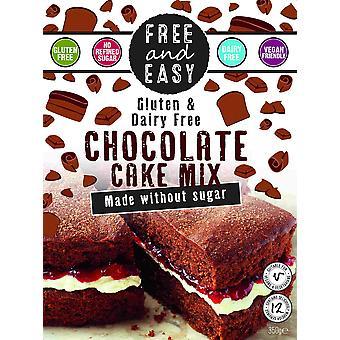 Kostenlos & Easy Chocolate Cake Mix - Zuckerfrei 350g x4
