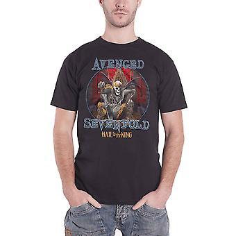Vengé sept fois Mens T Shirt noir la grêle au logo roi mortel règle officielle