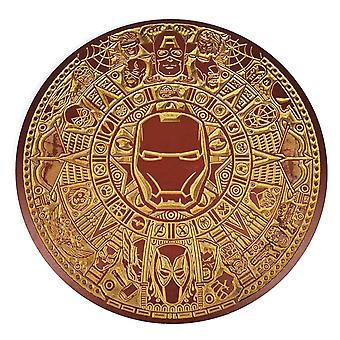 Marvel engraved wooden Iron Man calendar