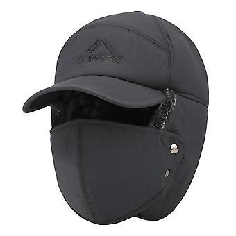 Zimní klobouk bomber klobouky, zahušťovat Balaclava bavlněná kožešina zimní klapka na uši keep teplý