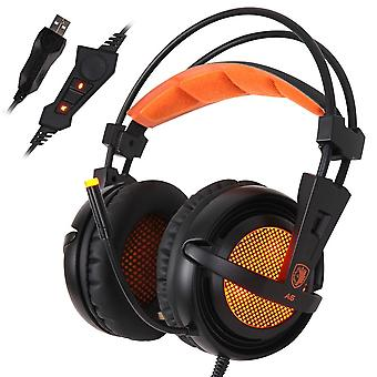 Stereo Wired Game Headset Over Ear With Mic Voice Control For Laptop/computer