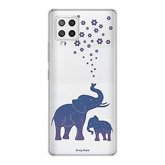 Scafo per Samsung Galaxy A42 5g Silicone Soft 1 Mm, Blue Elephant