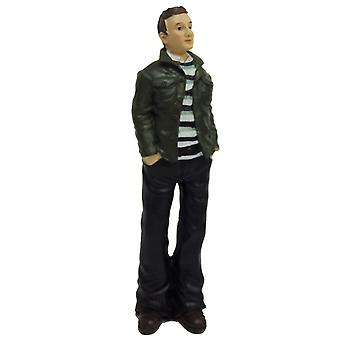 Dolls House Modern Casual Man In Jacket 1:12 Scale Resin People