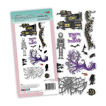 Polkadoodles Spooky Time Clear Stamps