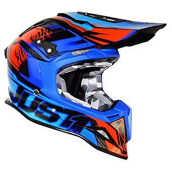 Just1 J12 Carbon Dominator Adult ACU Gold MX Helmet - Neon Red