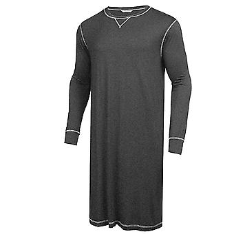 Men Pyjama, Long Sleeve, Round Neck, Nightclothes Sleepwear, Loose Seeping