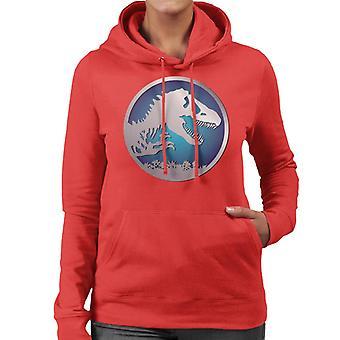 Felpa con cappuccio Jurassic Park Blue Logo Donna