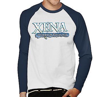 Xena Warrior Princess Blue Logo Men's Baseball Long Sleeved T-Shirt