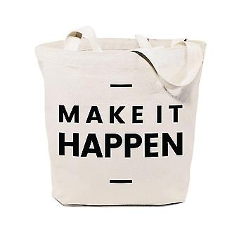 Make It Happen-Bawełna Płótno Tote Bag