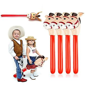 Inflatable Horse Heads, Cowgirl Stick, Pvc Balloon, Outdoor Educational