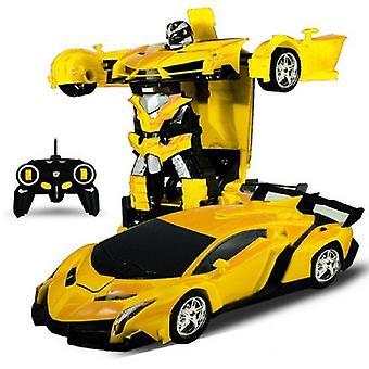 Electric Car Rc Car Transformation Robot