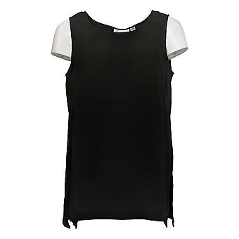 Linea Por Louis Dell'Olio Women's Top Gauze Crepe Asymmetrical Black A293753