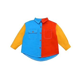 Fashion Color Matching Unisex Active Shirt