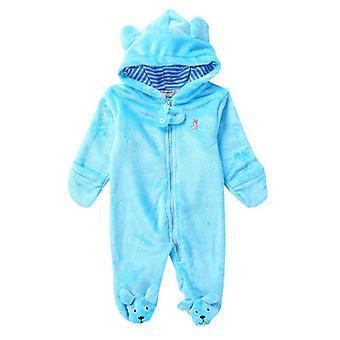 Μωρό Rompers χειμώνα ζεστό μακρύ μανίκι νεογέννητα ρούχα, ολόσωμες πυτζάμες ζώων φόρμας