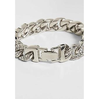Big Bracelet With Stones - Silver