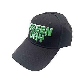 Green Day Baseball Cap Dripping Band Logo new Official Black Unisex
