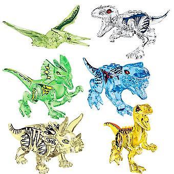 Jurassic Dinosaur Set Bouwsteen Speelgoed figuren Velociraptor T-rex Dino World