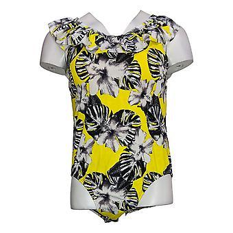 Got It Love It Women's Swimsuit Ruffle Top One-Piece Yellow A375138