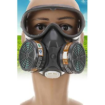 Face Gas Mask, Adjustable Gas Mask Full Facepiece Painting Spraying Respirator