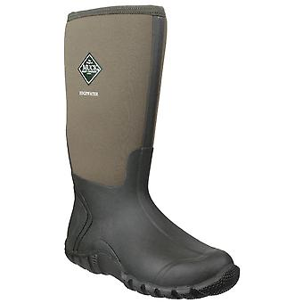 Muck boots unisex edgewater hi patterned wellington boot moss 23379