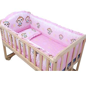 Baby Bed Bumpers, Pure Cotton, Infant Bedding Set, Newborn Cartoon Printed Crib