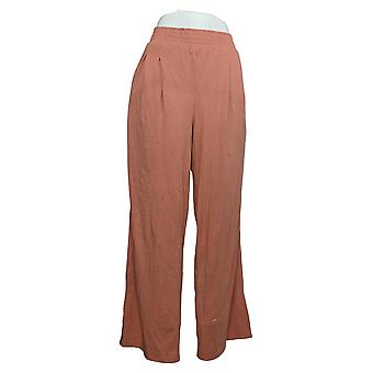 Chiunque pantaloni da donna Cozy Knit Gamba larga Elastico Cintura Rosa A347172