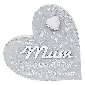 Joe Davies Cherished Hearts Cool Grey Mum Standing Plaque