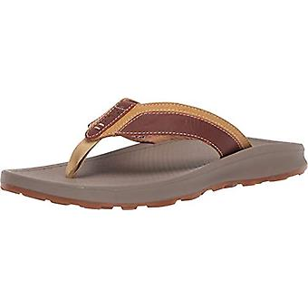 Chaco Mens J106617 Leather Slip On Open Toe Flip Flops