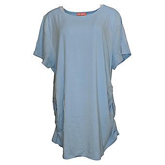 Alle waardige Hunter McGrady Women's Top Plus Soft Side Ruching Blue A378717