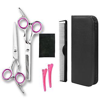 Hiustenleikkuu sakset suorat niiskut harvennus kampaus parturi työkalut lf28