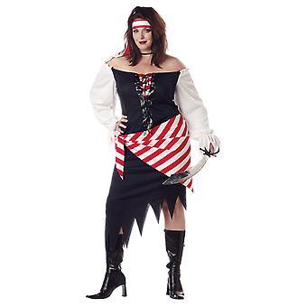Womens Ruby Pirate Plus Caraïbes livres & Film Costume déguisements