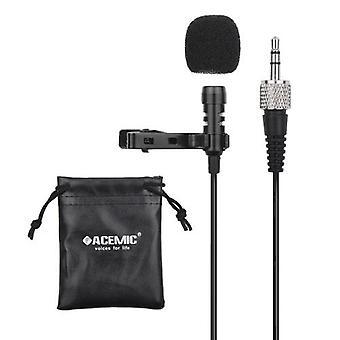 ACEMIC M21 Клип-на конденсатор Lavalier микрофон микрофон 3,5 мм TRS Plug 1M Кабель