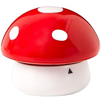 cooking timer mushroom 7 cm ABS red