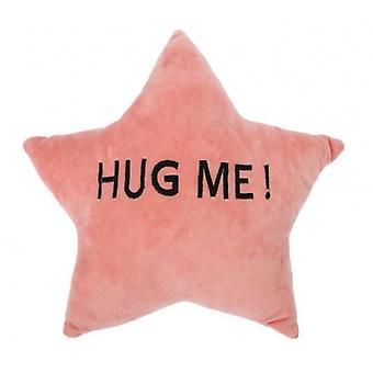 cushion HUG ME! Star 35 x 35 x 10 cm plush pink