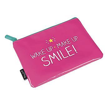 Feliz jackson acordar maquiagem fazer sorriso