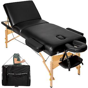 tectake Massagebriks med 3 zoner 10cm polstring + taske - sort