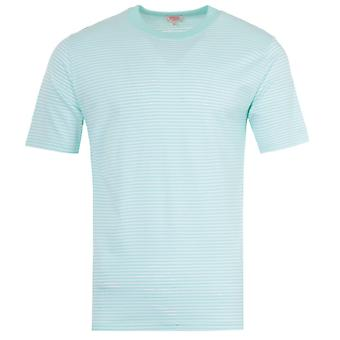Armor Lux Heritage Stripe T-Shirt - White & Pastel Green