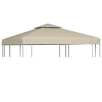 vidaXL Pavillon-Ersatzdach 310 g/m² Beige 3x3 m