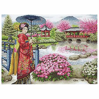 Anchor Counted Cross Stitch Kit: Maia Collection: The Japanese Garden