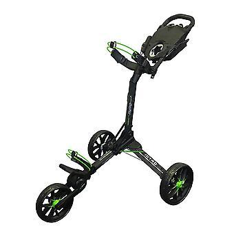 BagBoy Nitron 3 Wheel Push Golf Trolley Auto Open Charcoal/Lime