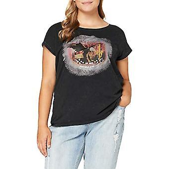 ONLY Carmakoma Carmos Life SS Treg EE Shirt, Wash: Black Black, L-50/52 Woman