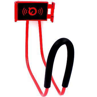 مرنة حامل الهاتف المحمول شنقا الرقبة كسول قلادة قوس الهاتف الذكي