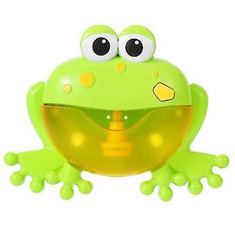 Frog green 12 song musical crab bubble maker baby children bath shower toy az4090